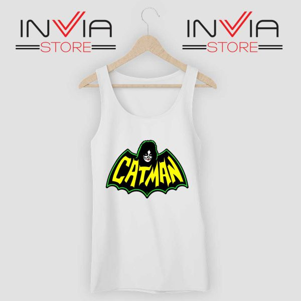Kiss Drummer Catman Tank Top White