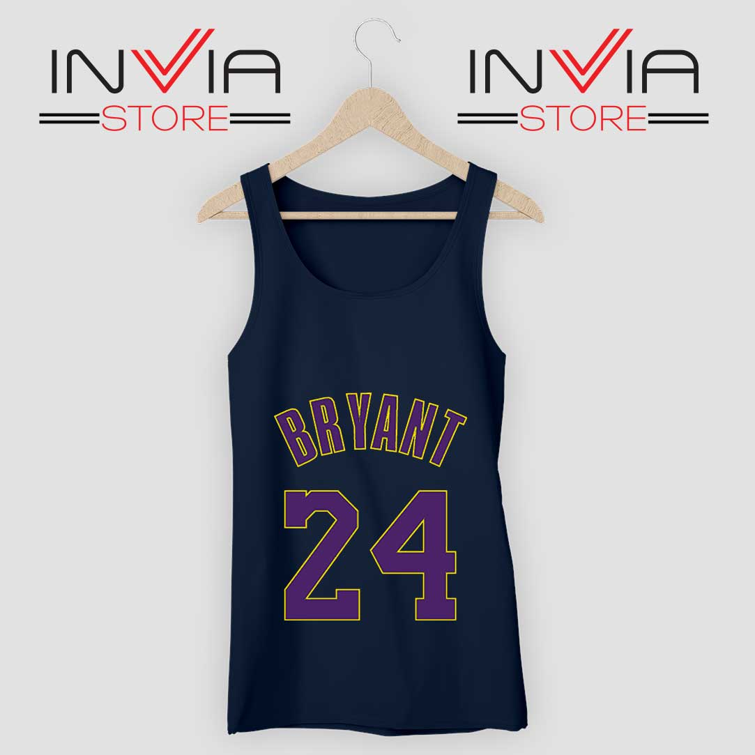 Kobe Bryant 24 LA Lakers RIP Tank Top