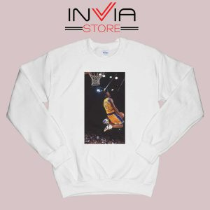 Kobe Bryant Dunk Best NBA Sweatshirt White