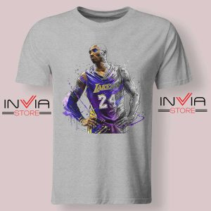 Kobe Star Player Bryant Tshirt Grey
