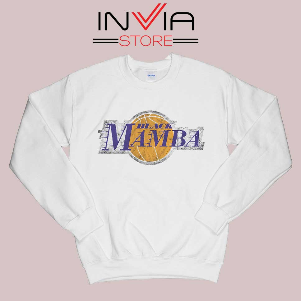 LA Lakers Black Mamba Sweatshirt White