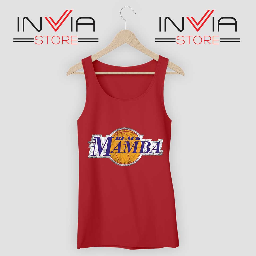 LA Lakers Black Mamba Tank Top Red