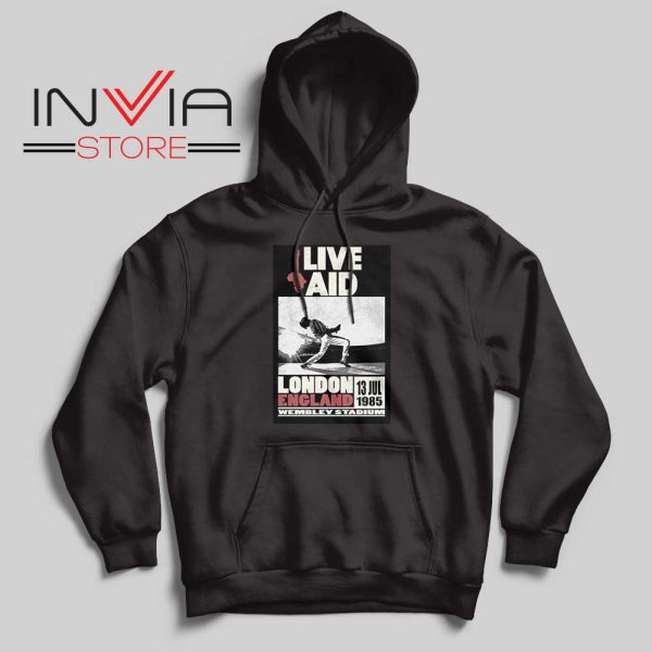 Live Aid Poster at Wembley Hoodie Black