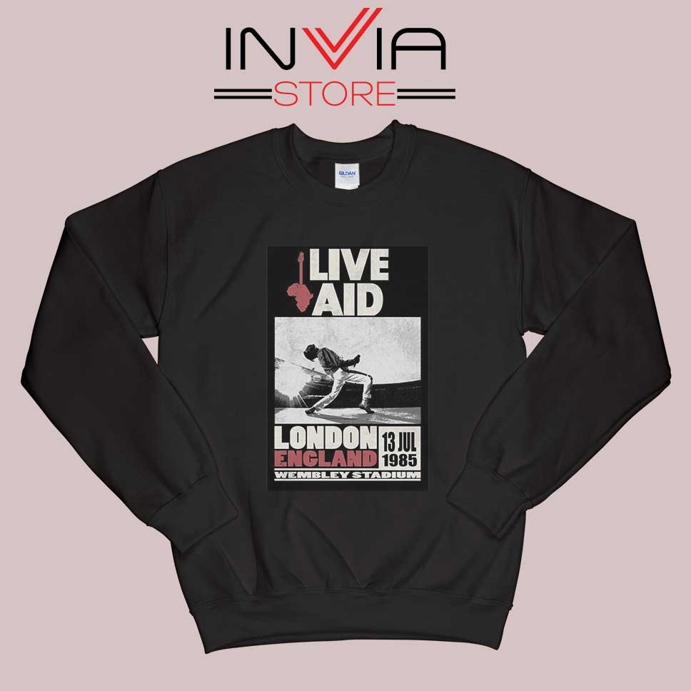 Live Aid Poster at Wembley Sweatshirt Black