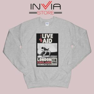 Live Aid Poster at Wembley Sweatshirt Grey