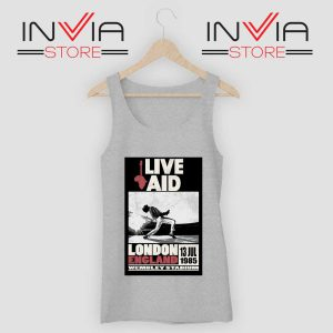 Live Aid Poster at Wembley Tank Top Grey