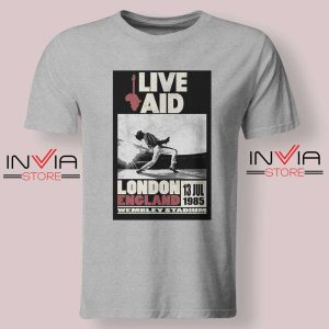 Live Aid Poster at Wembley Tshirt Grey