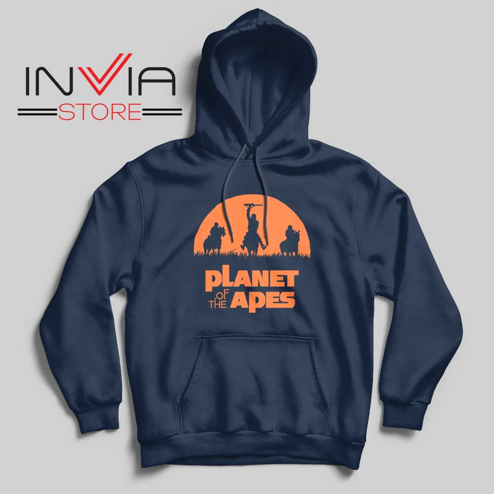 Monkey Warriors Hoodie Navy