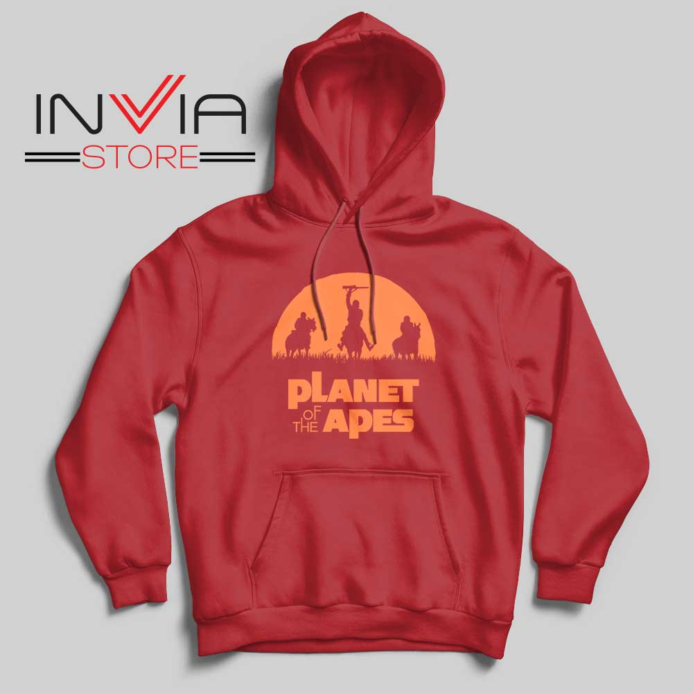 Monkey Warriors Hoodie Red