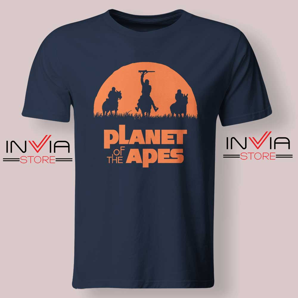 Monkey Warriors Tshirt Navy