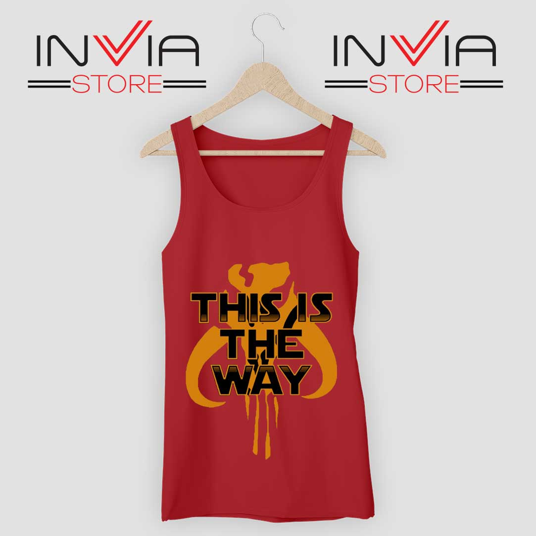 Mythosaur Skull Mandalor Tank Top Red