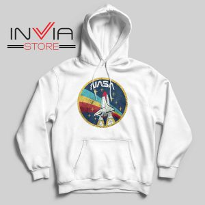 Nasa Logo Vintage Colors Hoodie White