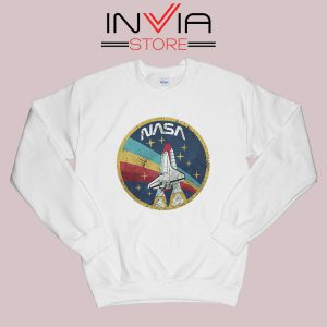 Nasa Logo Vintage Colors Sweatshirt White