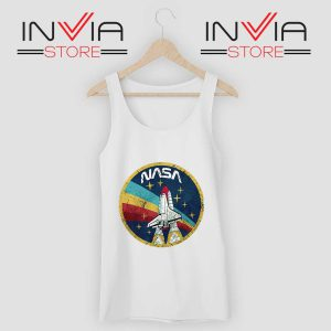 Nasa Logo Vintage Colors Tank Top White