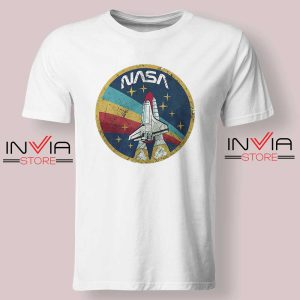 Nasa Logo Vintage Colors Tshirt White