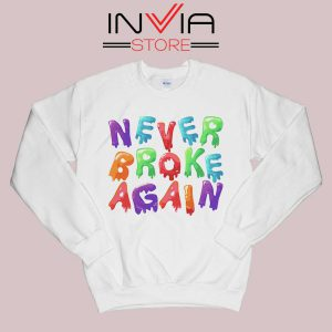 Never Broke Again NBA Sweatshirt White