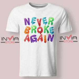 Never Broke Again NBA Tshirt White