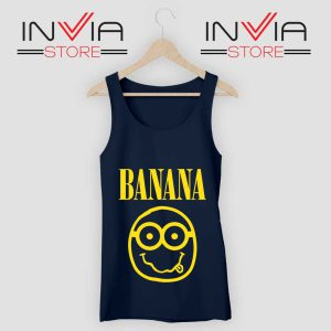 Nirvana Banana Minions Tank Top Navy