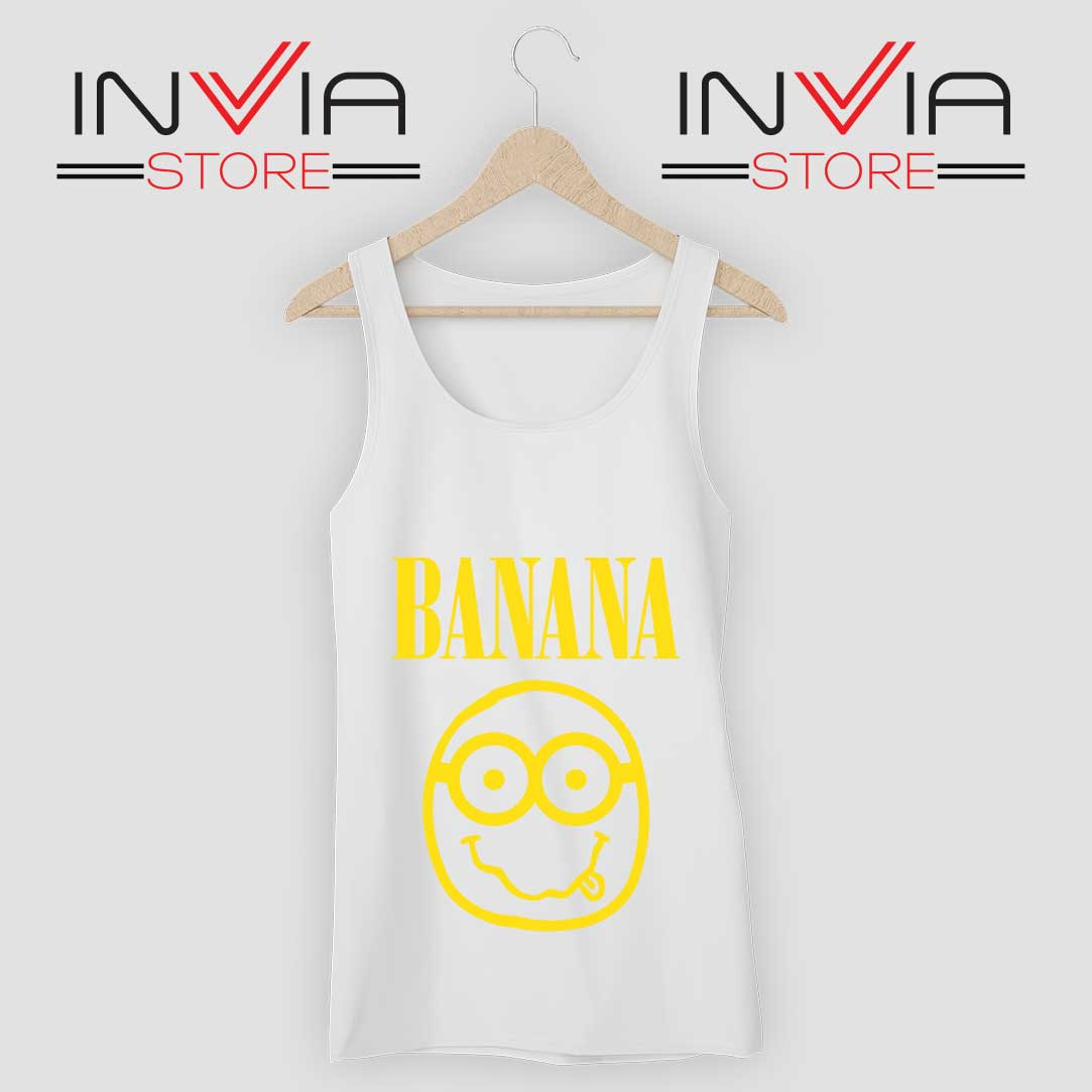 Nirvana Banana Minions Tank Top White