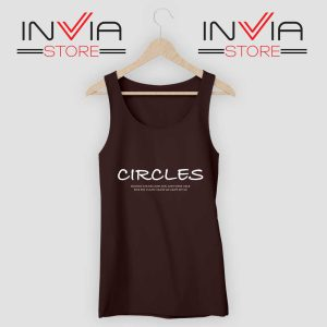 Post Malone Circles Lyrics Tank Top Black