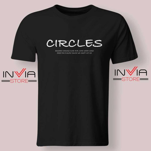 Post Malone Circles Lyrics Tshirt Black