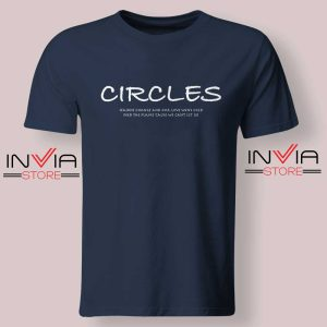 Post Malone Circles Lyrics Tshirt Navy