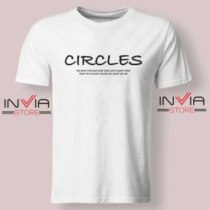 Post Malone Circles Lyrics Tshirt White