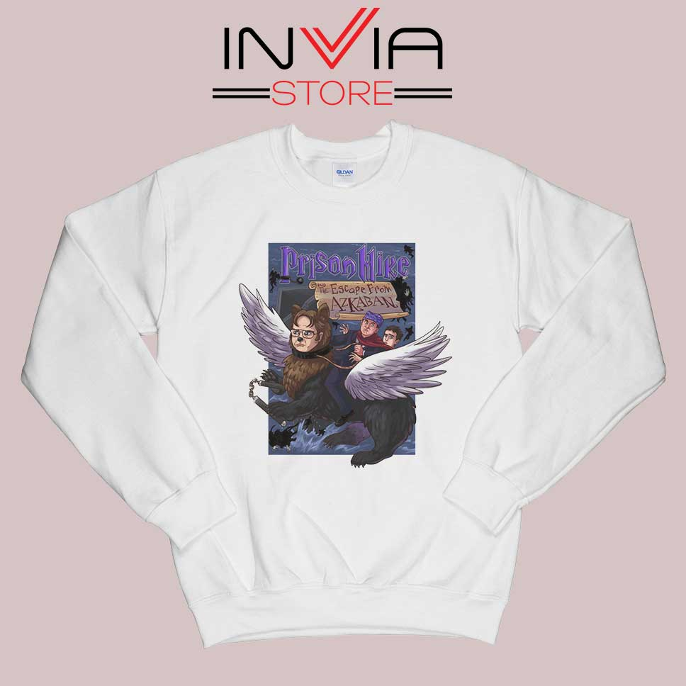 Prison Mike and the Escape from Azkaban Sweatshirt White