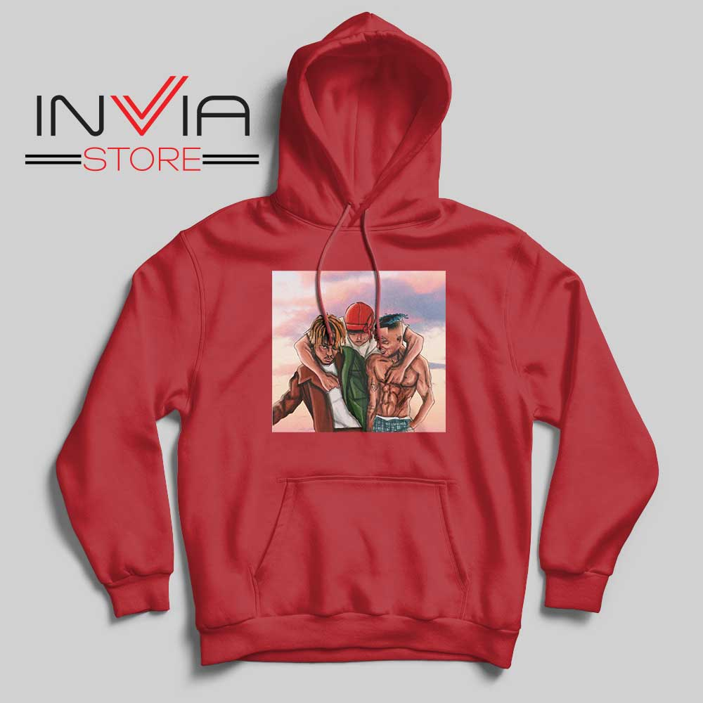 Rip Juice Wrld Rest in Peace Hoodie Red