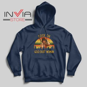 Rock On Gold Dust Woman Hoodie Navy
