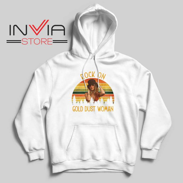 Rock On Gold Dust Woman Hoodie White