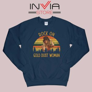 Rock On Gold Dust Woman Sweatshirt Navy