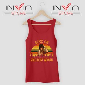 Rock On Gold Dust Woman Tank Top Red