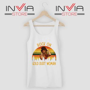 Rock On Gold Dust Woman Tank Top White