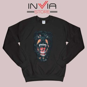 Rottweiler Dog Face Sweatshirt
