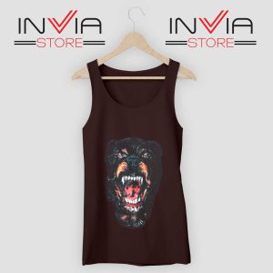 Rottweiler Dog Face Tank Top