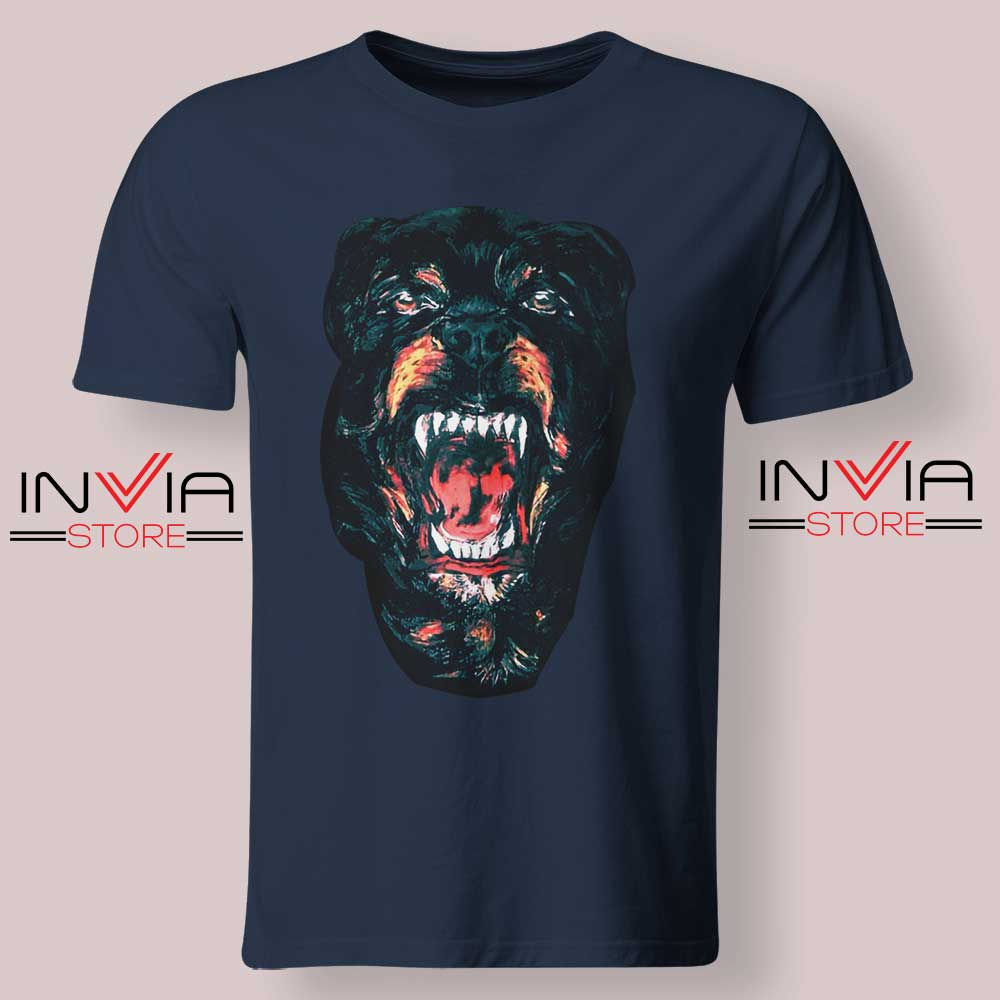 Rottweiler Dog Face Tshirt Navy