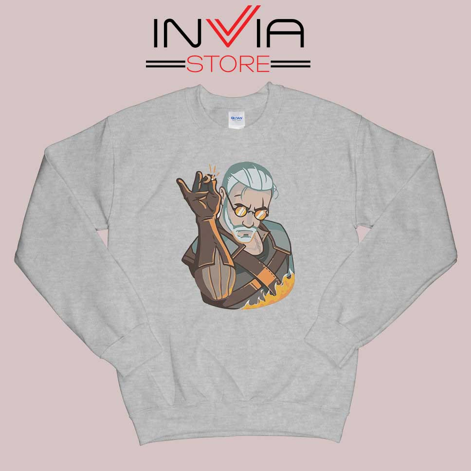 Salt Bae Witcher Geralt Sweatshirt Grey