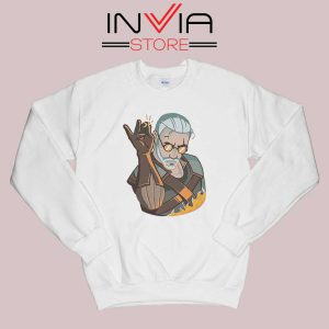 Salt Bae Witcher Geralt Sweatshirt White