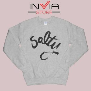 Salty Meme Sweatshirt Grey