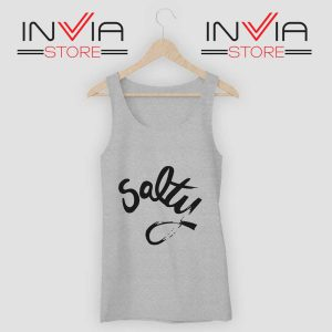 Salty Meme Tank Top Grey