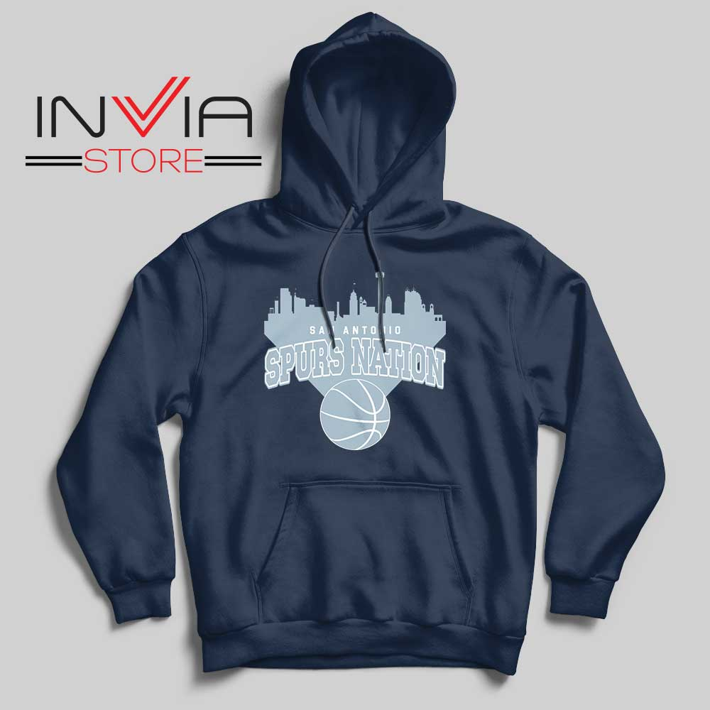 San Antonio Spurs Nation Hoodie Navy