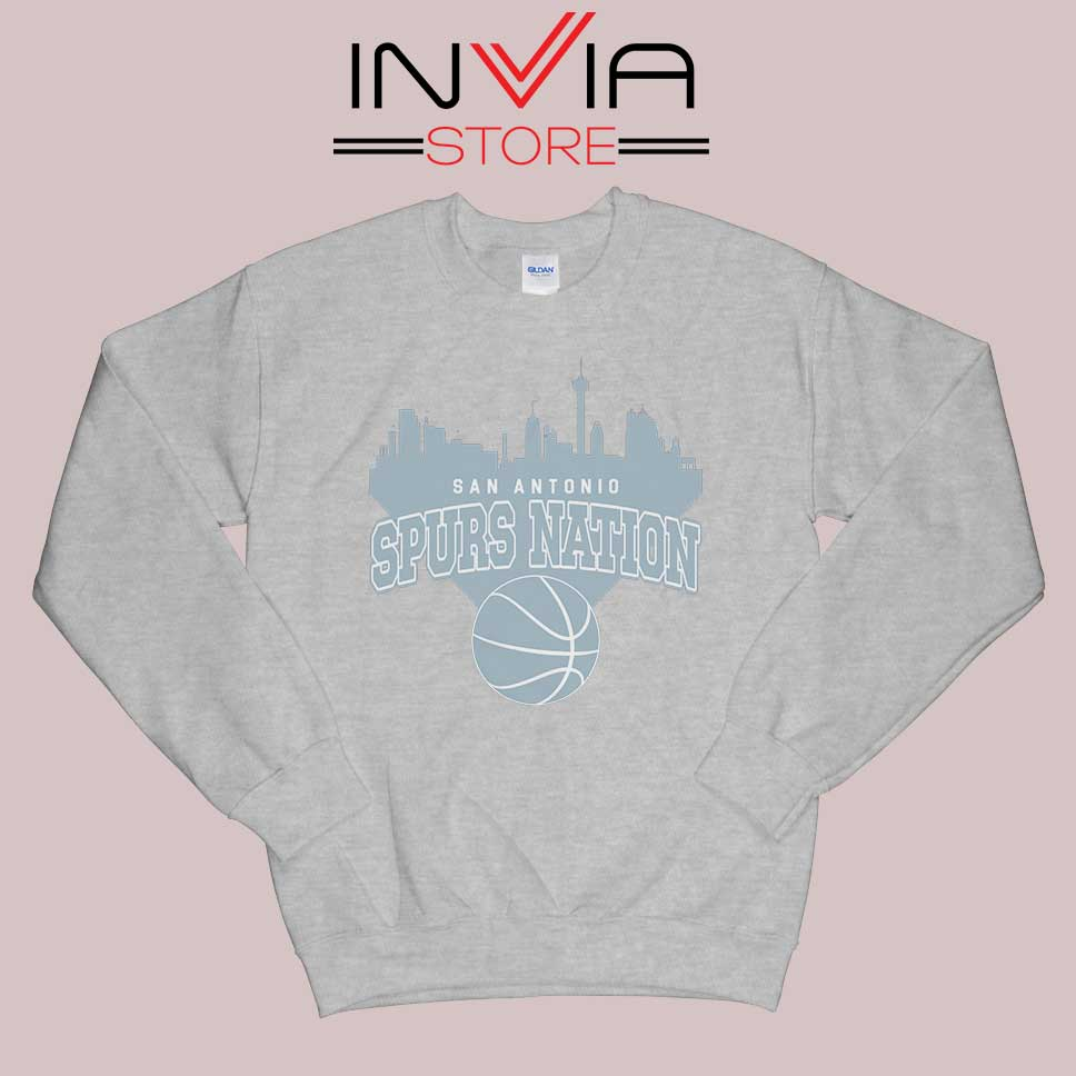 San Antonio Spurs Nation Sweatshirt Grey