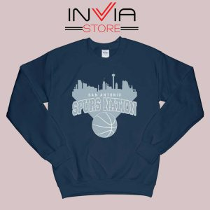 San Antonio Spurs Nation Sweatshirt Navy