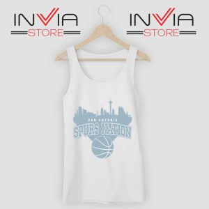 San Antonio Spurs Nation Tank Top White