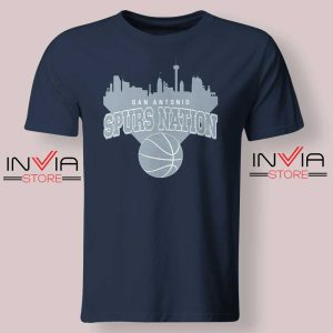 San Antonio Spurs Nation Tshirt Navy
