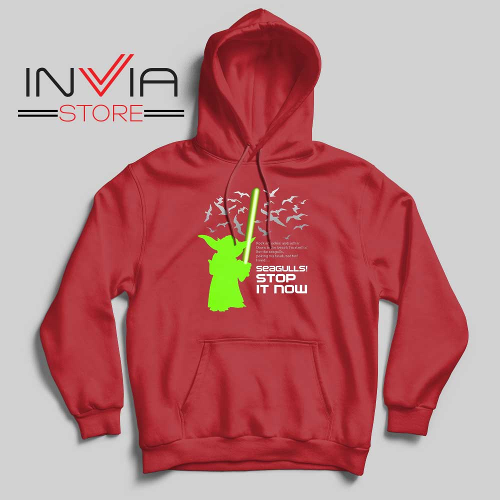 Seagulls Stop It Now Hoodie Red