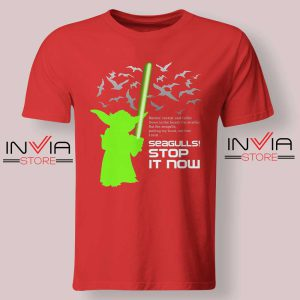 Seagulls Stop It Now Tshirt Red