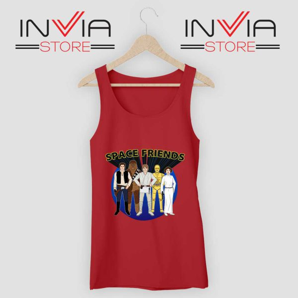 Space Friends Star Wars Tank Top Red