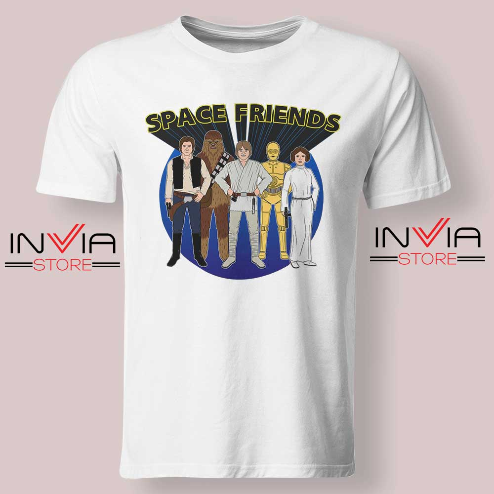 Space Friends Star Wars Tshirt White